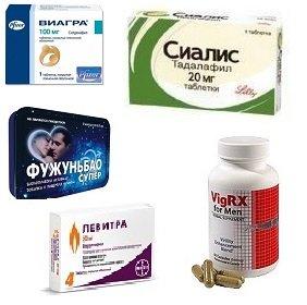 Фото препаратов для улучшения эрекции
