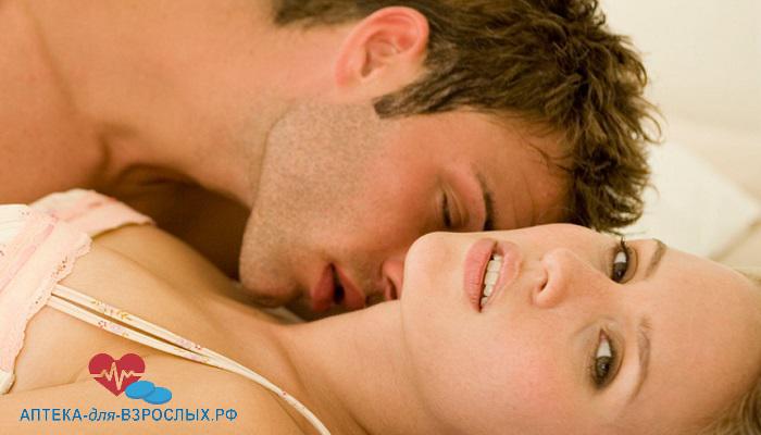 Возбужденный мужчина с девушкой под действием Вука Актив