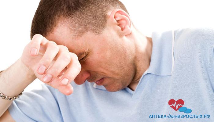 Головная боль у мужчины из-за передозировки