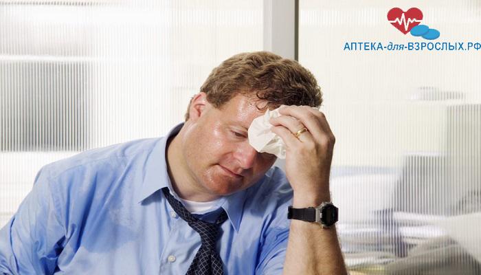 Недомогание у мужчины из-за передозировки препаратом