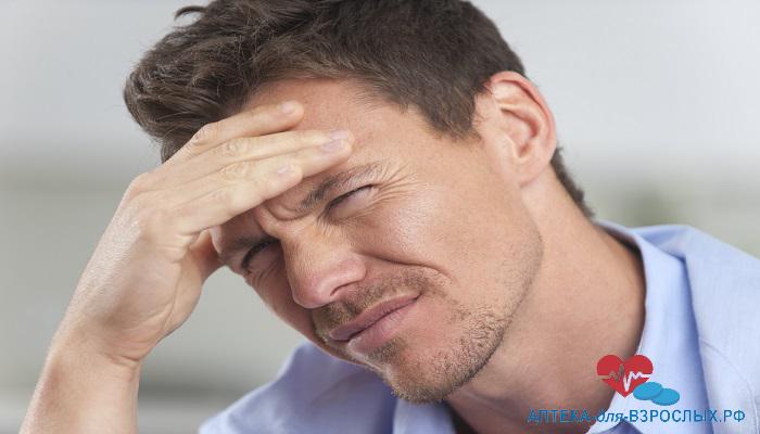 У мужчины легкое недомогание из-за передозировки добавкой